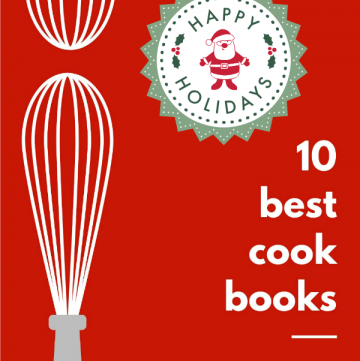 Long collage of best cookbooks