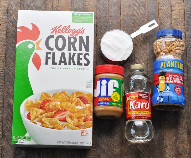5 ingredients for Cornflake cookies