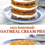 Long collage image of Oatmeal Cream Pies