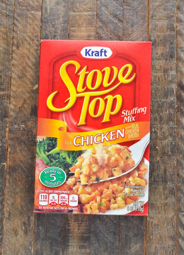 Box of stovetop stuffing mix