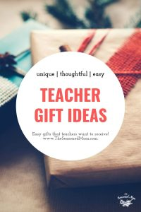Long collage image of Teacher Gift Ideas