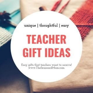 Small collage of easy teacher gift ideas for Christmas