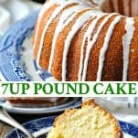 Long collage image of 7UP Pound Cake