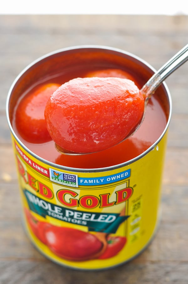 Can of red gold whole peeled tomatoes