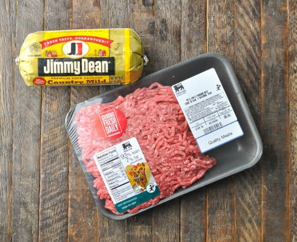 Overhead shot of ingredients for southern chili recipe