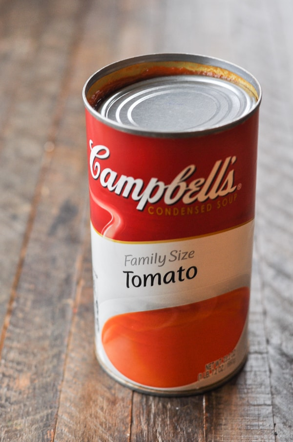 Extra large family size can of condensed tomato soup
