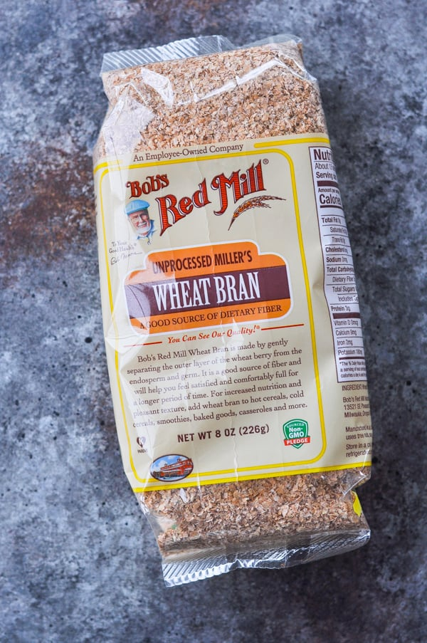 Package of wheat bran