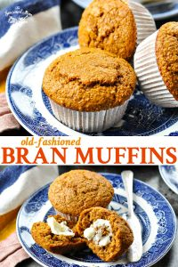Long collage of Bran Muffins