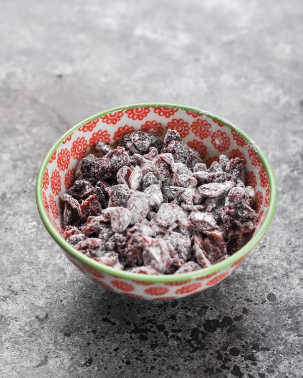 Bowl of raisins for bran muffins