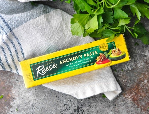 Package of anchovy paste