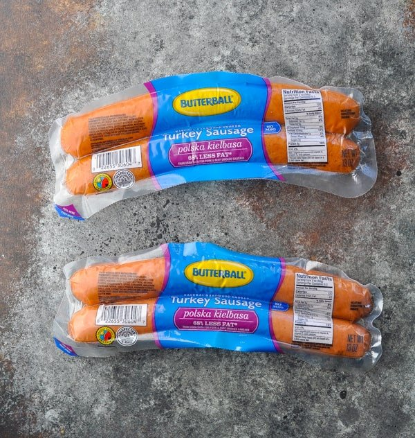 Kielbasa smoked sausage in package