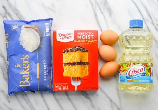Ingredients for duncan hines coconut cream cake recipe