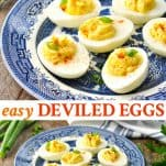 Long collage of Easy Deviled Eggs