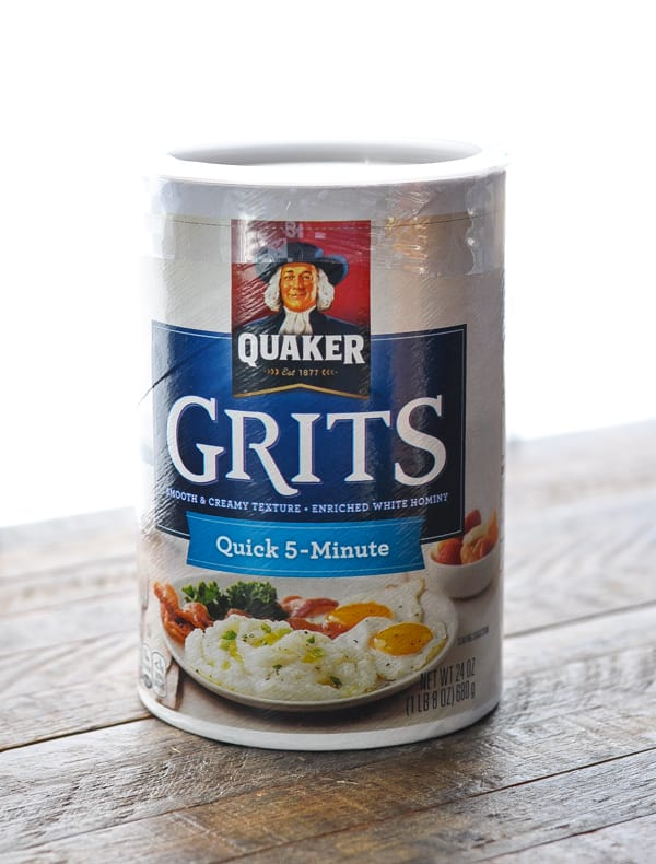 Can of Quaker Quick Grits