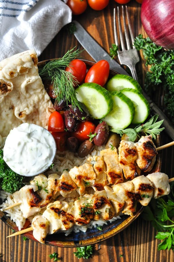 Chicken Souvlaki The Seasoned Mom