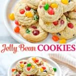 Long collage image of Jelly Bean Cookies