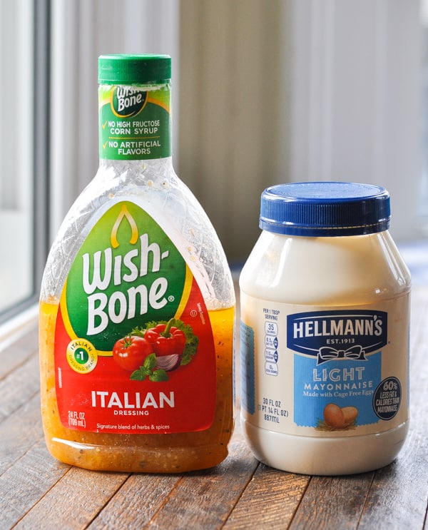 Mayonnaise and Italian dressing for chicken marinade