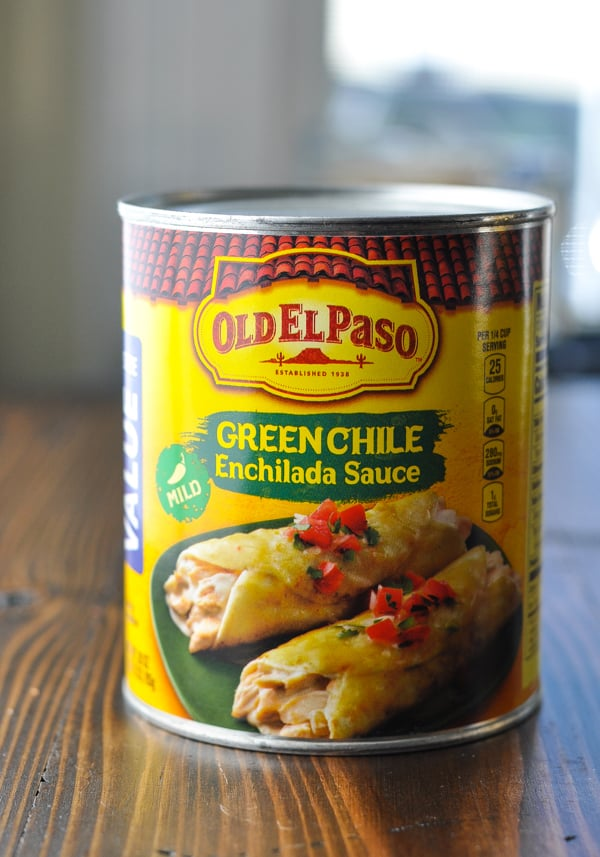 Can of green chile enchilada sauce