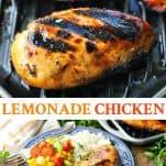 Long collage image of Lemonade Chicken Recipe