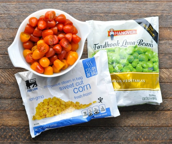 Corn lima beans and tomatoes for succotash recipe