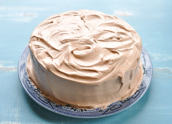 Easy chocolate cake frosted with cool whip frosting