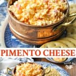 Long collage image of Pimento Cheese Recipe