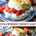 Long collage image of Strawberry Shortcake Recipe