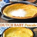 Long collage image of Dutch Baby Pancake