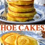 Long collage image of Hoe Cakes