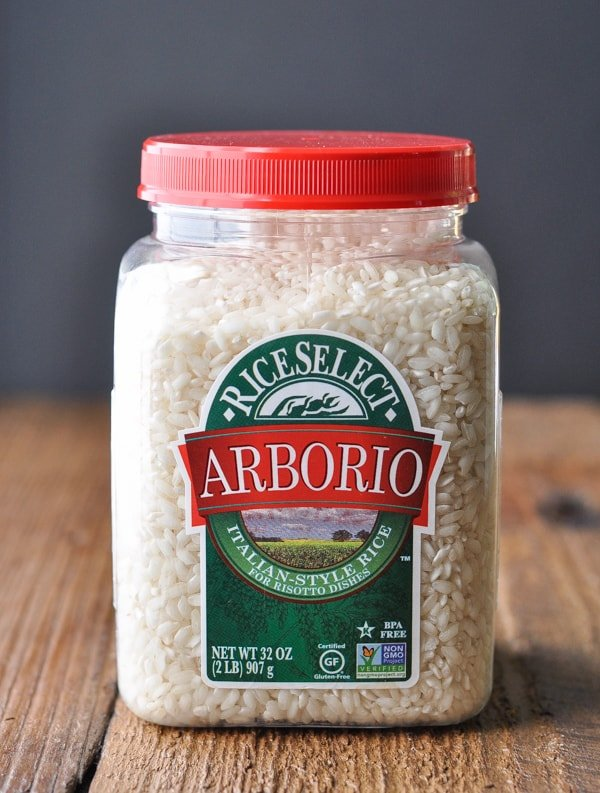 Canister of arborio rice