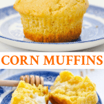 Long collage of corn muffins