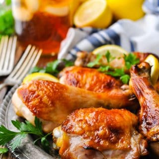 Crisp and golden brown sweet tea chicken