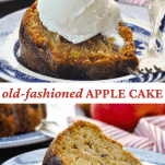 Long collage image of Apple Cake