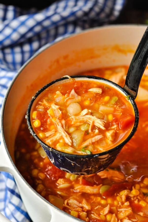Ladle full of Brunswick Stew