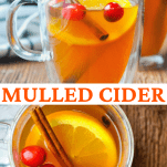 Long collage of mulled cider