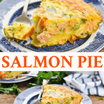 Long collage image of Salmon Pie