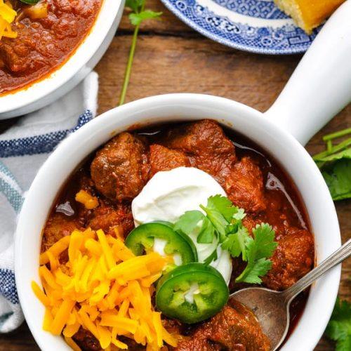 Easy Texas Chili The Seasoned Mom