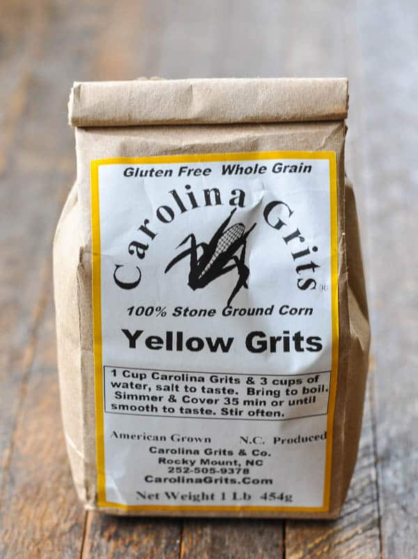 Package of stone ground grits
