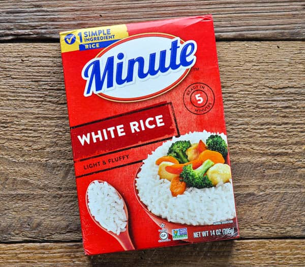 Box of minute rice