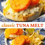 Long collage image of Tuna Melt Recipe