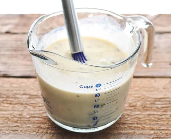 Cream of mushroom sauce for ground beef casserole