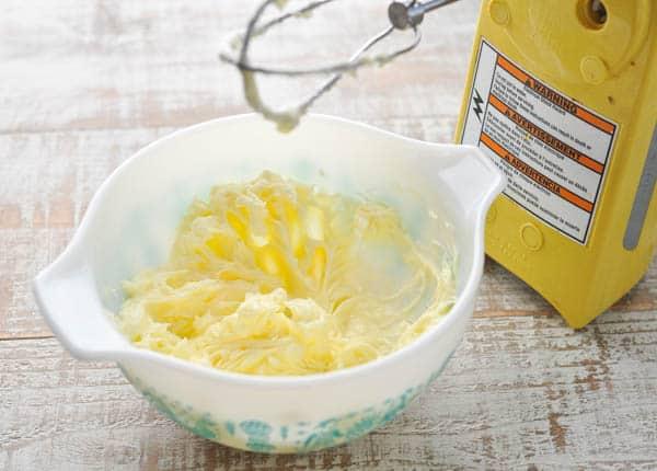 Process shot of how to make homemade honey butter recipe