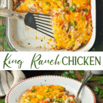 Long collage image of King Ranch Chicken Casserole