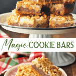 Long collage image of Magic Cookie Bars