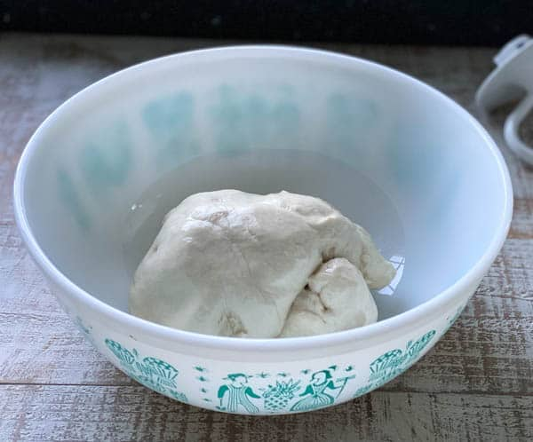 French bread dough in a bowl