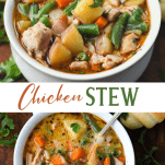 Long collage image of Chicken Stew