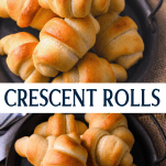 Long collage image of Crescent Rolls