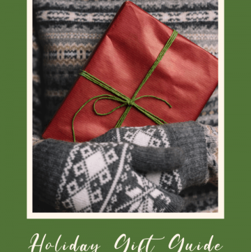 Gift guide image with wrapped present