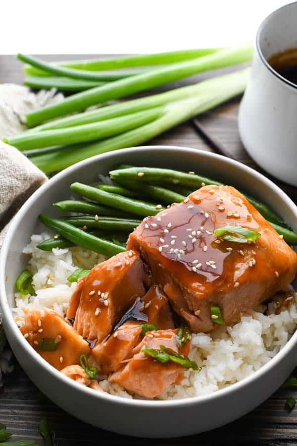 Teriyaki Salmon 30 Minute Dinner The Seasoned Mom