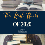 Navy blue collage of the best books of 2020